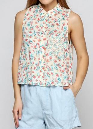 Рубашка в цветочек вискоза