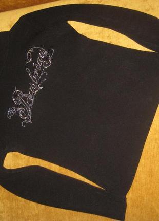 Черный теплый свитер гольф водолазка