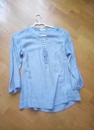 Стильная блуза с длинным рукавом коттон cache cache