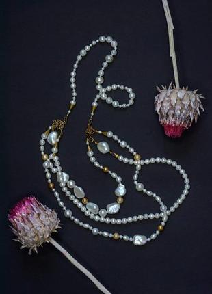 Дизайнерское украшение с баррочным жемчугом