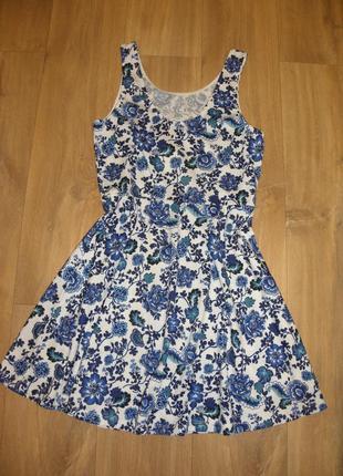 Платье h&m цветочный принт