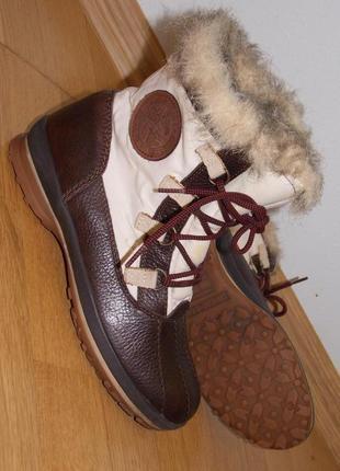 """Р.37 """"tommy hilfiger"""" румыния,натур.кожа,зимние ботинки/сапоги 24.7 см"""