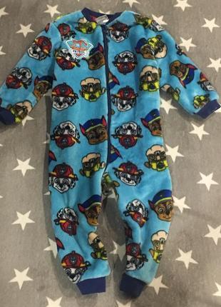 Плюшевый слип пижама