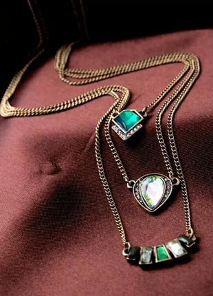 Многослойное ожерелье в бохо стиле