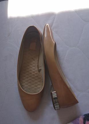 Балетки лоферы туфли кожа