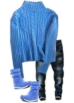 Теплый свитер размер 46-48 70% шерсть
