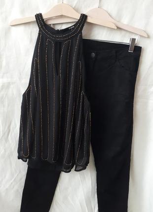 Блуза расшитая бисером / 2я вещь в подарок