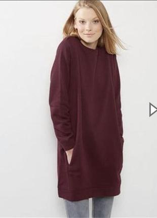 Тёплое платье свитшот