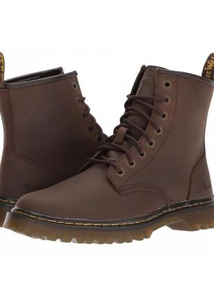 Ботинки dr. martens awley dark brown crazy horse action