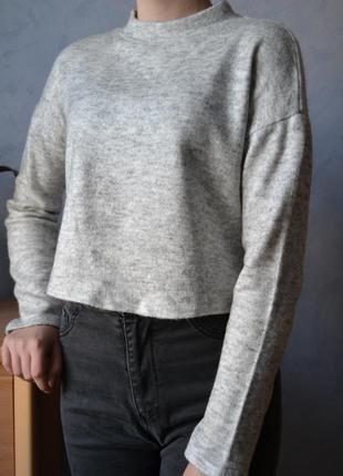Укороченный свитер ( в составе шерсть)