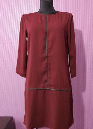 Новое платье бордового цвета, от бренда kiabi woman.