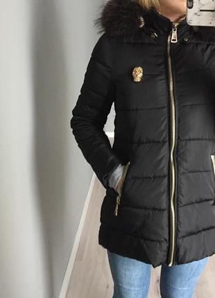 Tianmei fashion -стильний зимовий плащ з натуральним хутром
