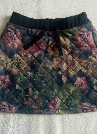 Теплая стеганая юбка