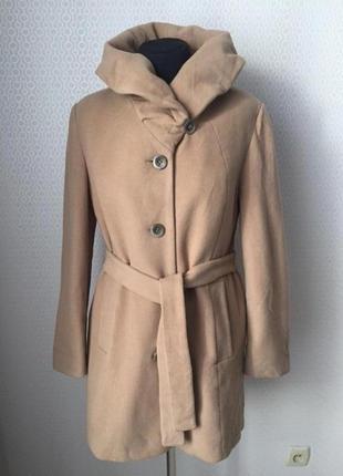 Пальто шерсть кашемир размер евр 42, укр 48-50 бренд laura di sarpi