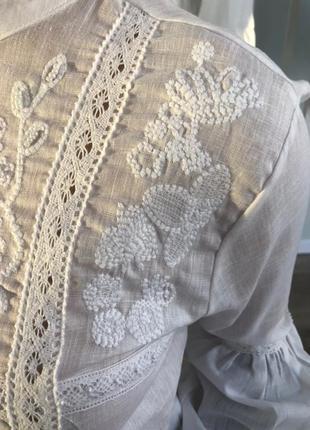 Элегатная вышитая блуза orfeonegro5