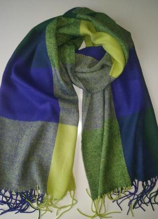 Теплый кашемировый шарф на зиму