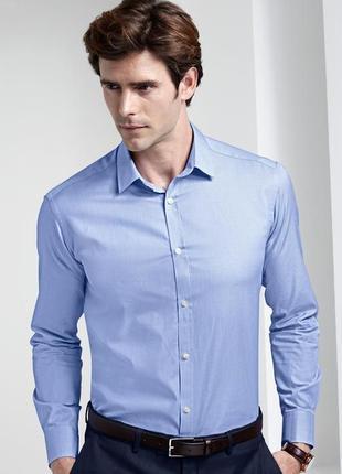 Деловая рубашка из эко хлопка от тсм tchiboмания р хл ворот 43/44