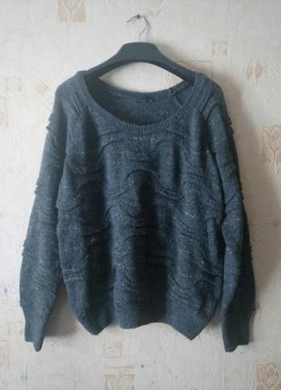 Нарядный свитер с люрексом vero moda шерсть