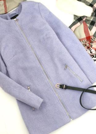 Тёплое шерстяное пальто new look