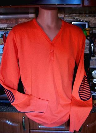 Jack & jones (оригинал) крутой хлопковый джемпер  свитер на высокий рост р. m-l