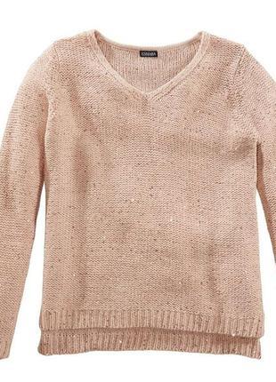 S(36-38 евр.) вязаный свитер с паетками от esmara