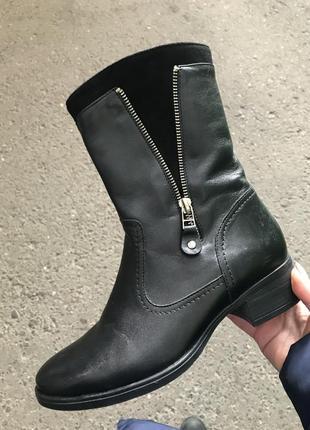 Распродажа зимние ботинки кожа 37р