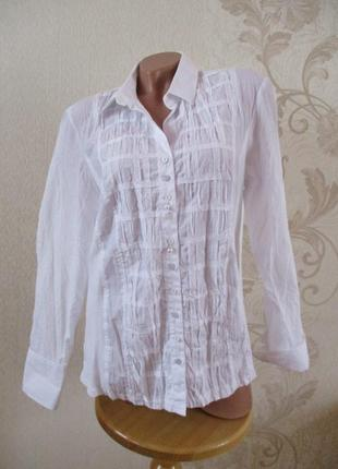 Рубашка/блуза/белая/l-xl