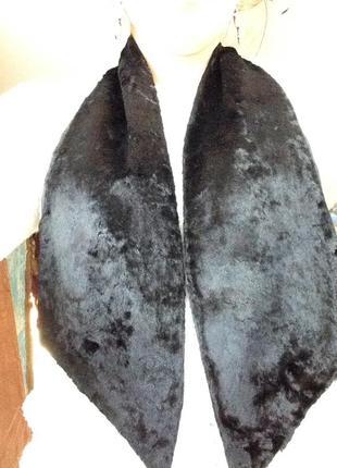 Чёрный шарф мех италия возможен обмен