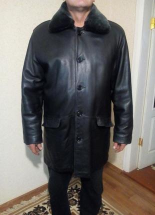 Натуральный зимний кожаный френч пог 70