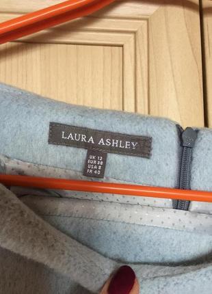 Новая шерстяная теплая юбка голубо-серая laura ashley 12рр3 фото