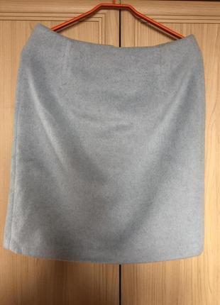 Новая шерстяная теплая юбка голубо-серая laura ashley 12рр4 фото
