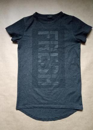 Стильная футболка на мальчика, хлопковая футболка,серая футболка с надписью next