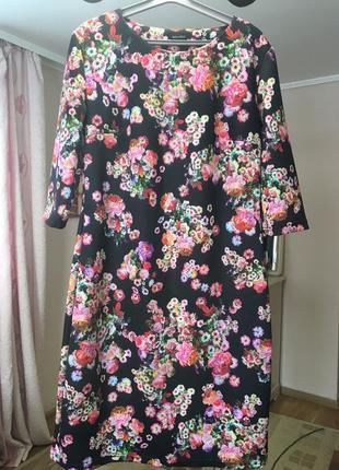 Сукня з квітковим принтом (тепла)3