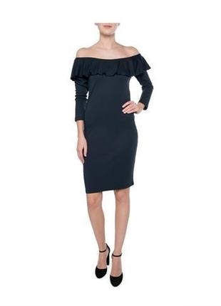 Платье со спущенными плечами vila