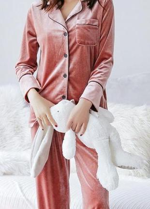 Вельветовая бархатная,велюровая пижама, бархатный комплект