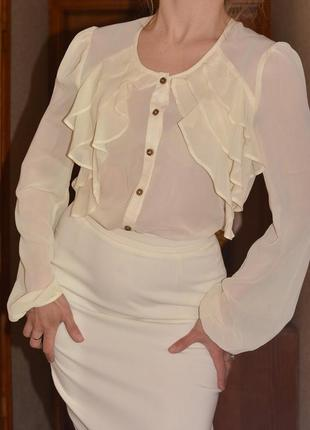 Романтичная нежная шифоновая блузка atmosphere, 12 размер