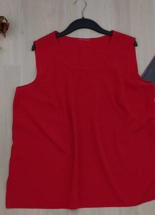 Xxxl базовая красная маечка, блуза с вышивкой !