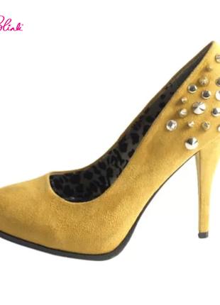 Blink туфли с шипами женские нарядные эффектные красивые брендовые кожаные 37 39