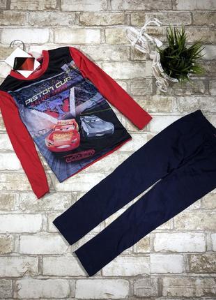 Трикотажный комплект реглан и штаны, пижама для дома с принтом