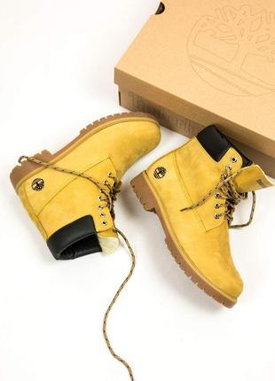 Шикарные женские зимние ботинки timberland с мехом!
