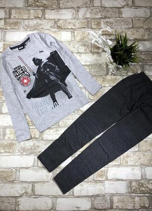 Трикотажная пижама на мальчика, набор реглан и штаны хлопковый
