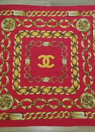 Chanel шелковый платок. оригинал. vintage