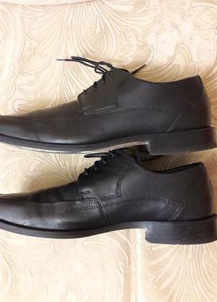 Кожаные классические туфли на шнурках ортопедическая мягкая стелька 26.5см