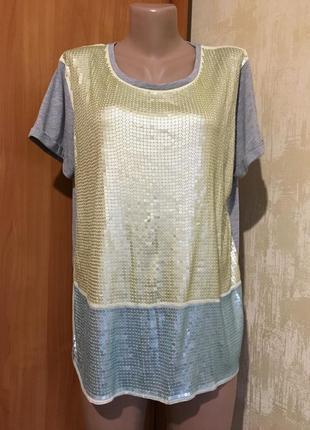 Красивая футболка,блуза в паетках!