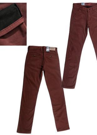 Теплые флис,супер-модные мужские штаны р-ры28