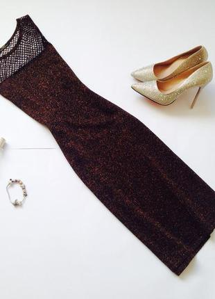 Блестящее платье миди marks&spencer