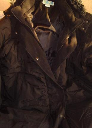 Пуховик зимний с капюшоном бренд outdoor elements большой размер 3х батал куплен в сша