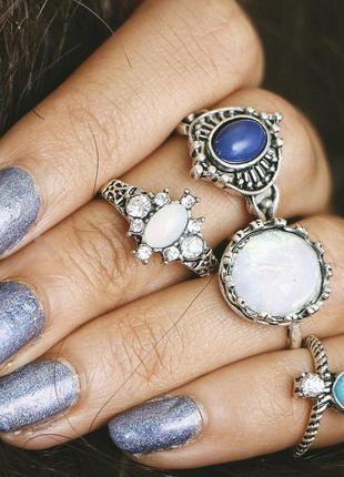 Набор колец кольца бохо этно
