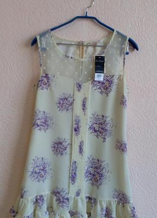 Платье с кружевом miss selfridge