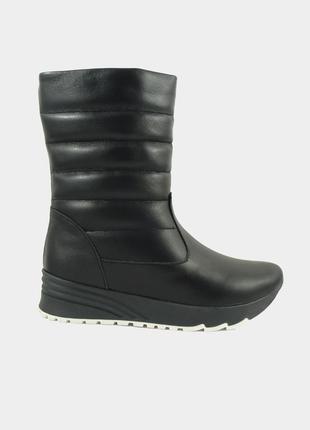 Зима ботинки дутики натуральная кожа   кожаные зимние танкетка 36 37 38 39  40 р b9c8a5e31d3